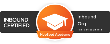 Inbound Marketing Certified by Hubspot Academy