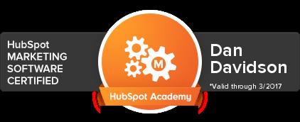 HubSpot Certification Dan Davidson