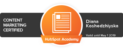 content marketing certified by hubspot
