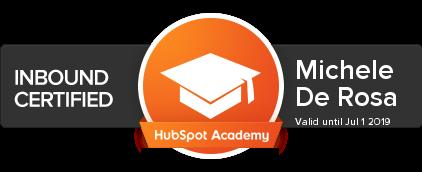 Michele De Rosa | Inbound Certified | HubSpot Academy