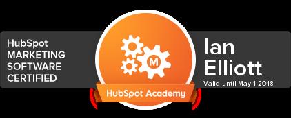 Ian Elliott HubSpot Marketing Software Certification