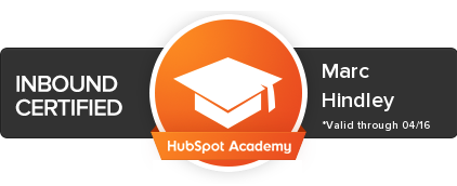 Marc Hindley – Hubspot inbound certified