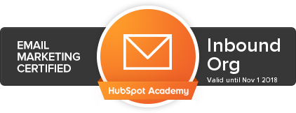 HubSpot Inbound Certification content marketing
