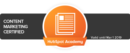 HubSpot Content Marketing Certification Badge