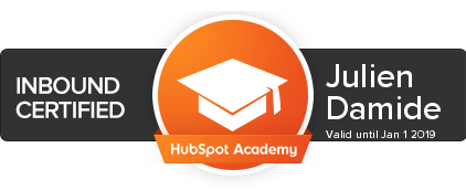 certification hubspot julien damide inbound marketing