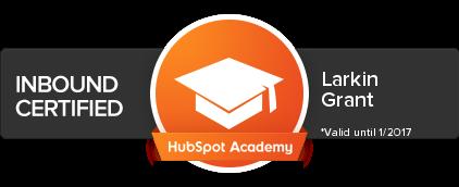 HubSpot Academy - Inbound Certification Badge