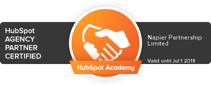 Peter Bush HubSpot Inbound Marketing Certification through Napier Group
