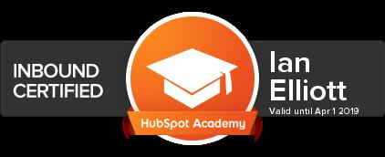 Ian Elliott HubSpot Inbound Certification