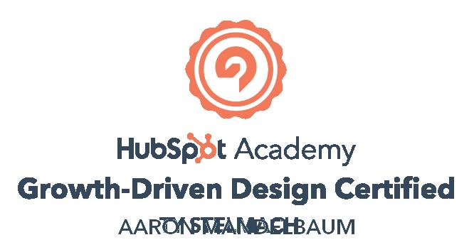 SMB Advisors Growth-Driven Design Certification - HubSpot