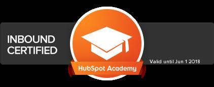 Hubspot Academy Inbound Badge