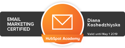 email marketing certified by hubspot