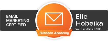 Elie Hobeika - Email Marketing Certified