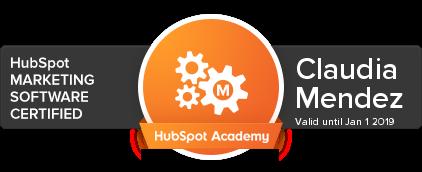 Certificacion Claudia Mendez - HubSpot