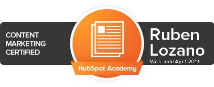 Content Marketing Certified Hubspot Academy Ruben Lozano