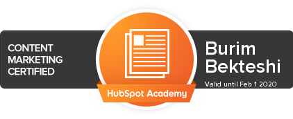 Content Marketing Certified by Hubspot Academy
