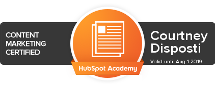 Courtney Disposti HubSpot Academy - Content Marketing .