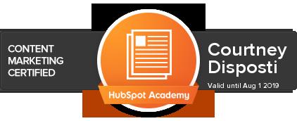 Courtney Disposti HubSpot Academy - Content Marketing .