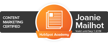 Certifiée Content Marketing - HubSpot Academy