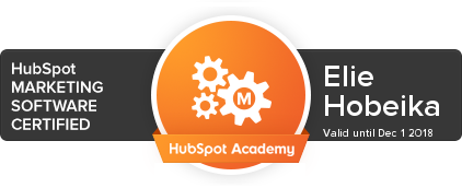 Elie Hobeika - Hubspot Marketing Software Certified