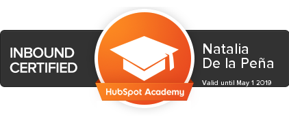 Insignia Certificado Marketing Inbound de HubSpot Academy