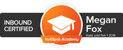 hubspot inbound certification megan britton