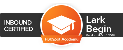 lark begin inbound certified hubspot