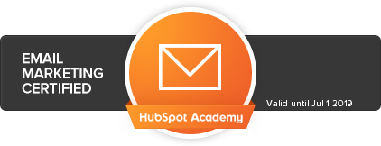 Hubspot Academy Email Marketing Badge