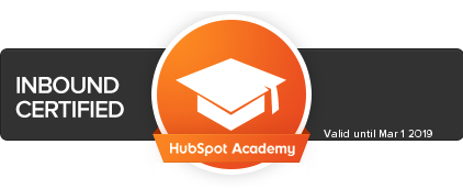 HubSpot Inbound Certification Badge