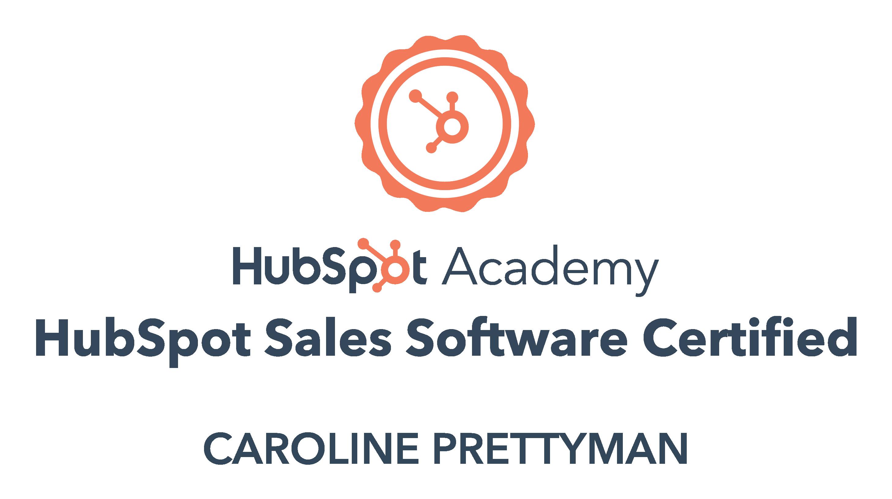 HubSpot Academy HubSpot Sales Software Certified