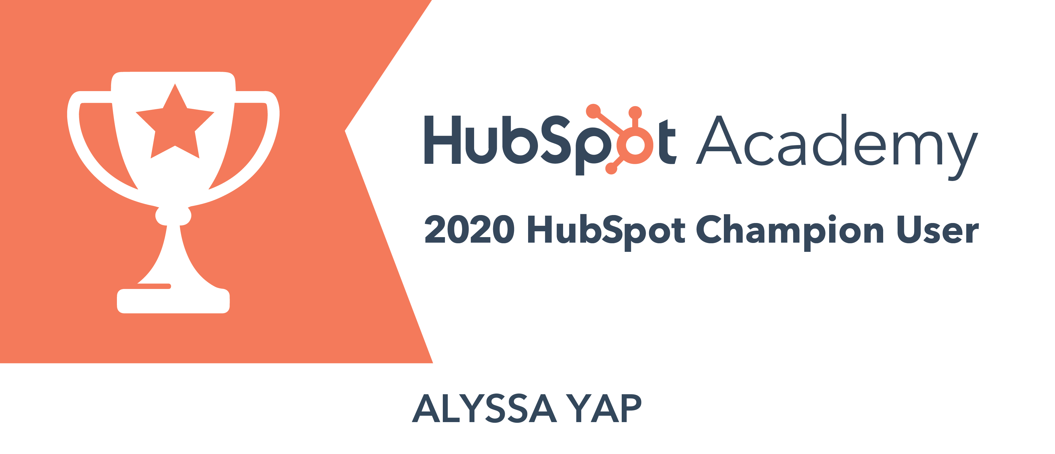 Alyssa Yap HubSpot Award