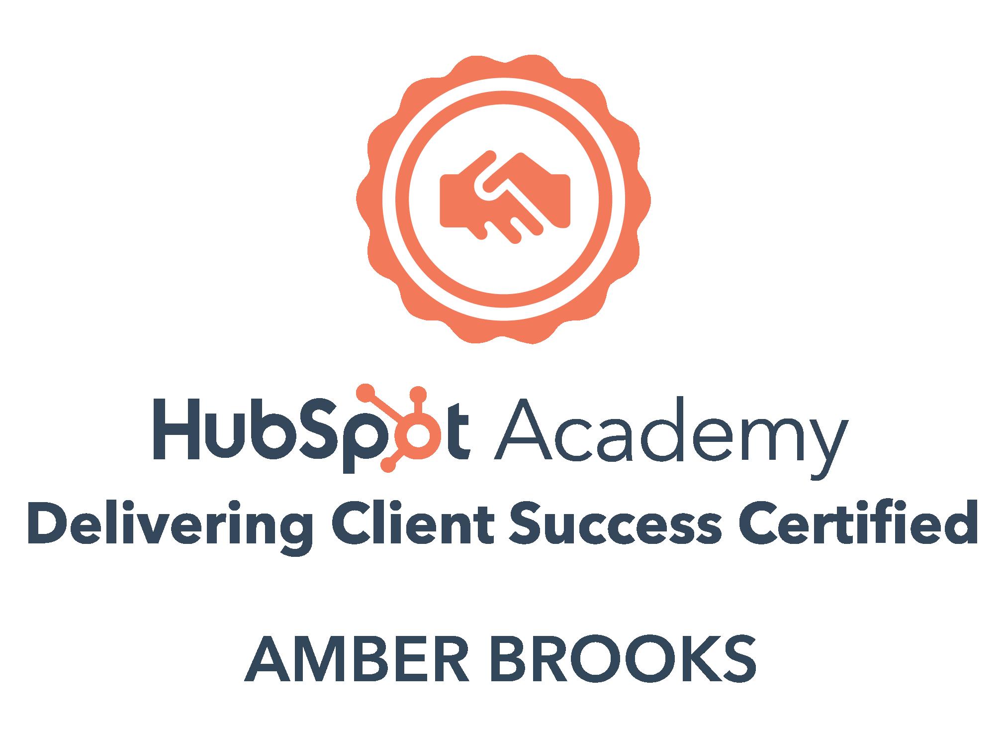 HubSpot Delivering Client Success certification