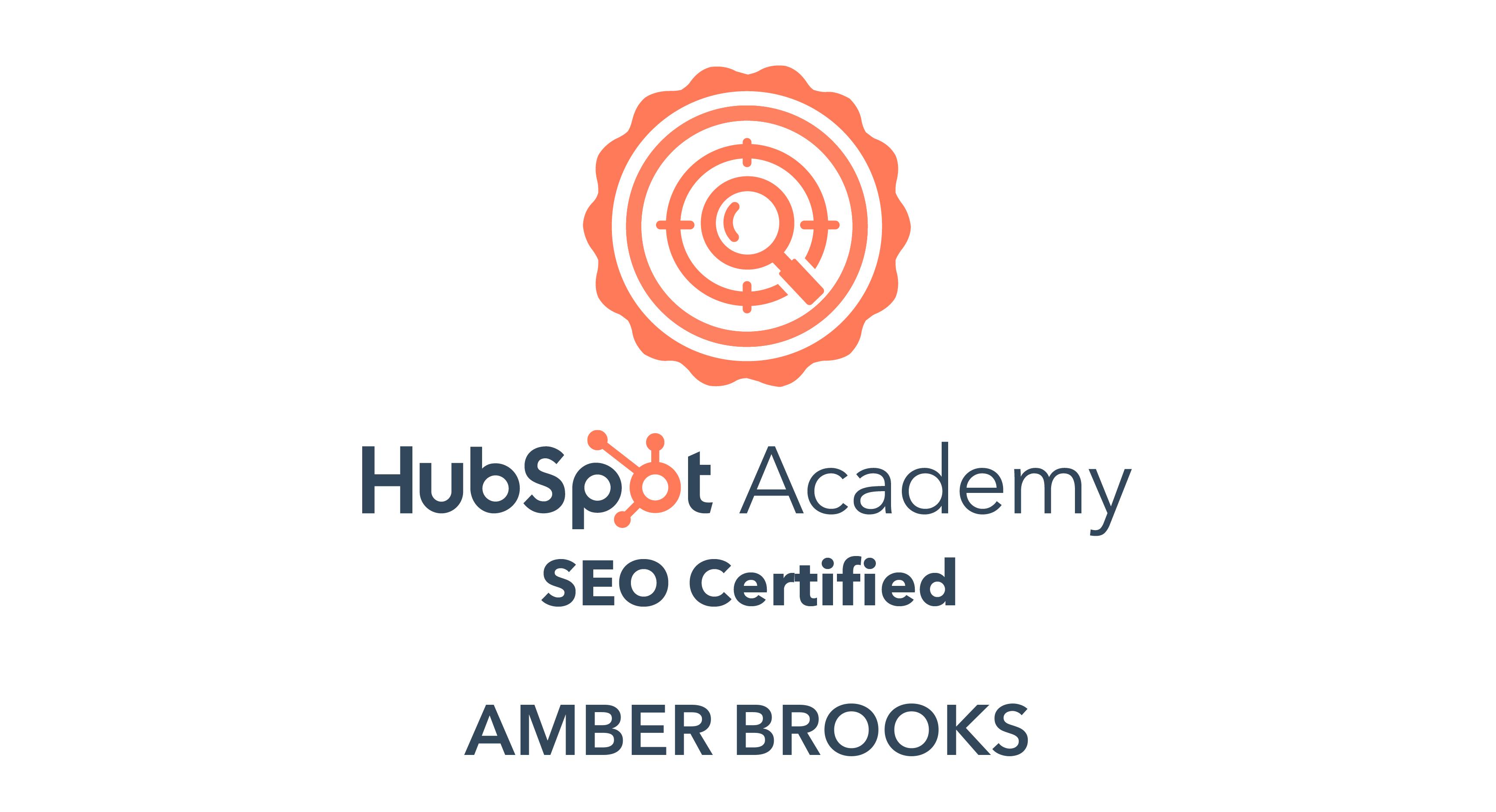 HubSpot SEO certification