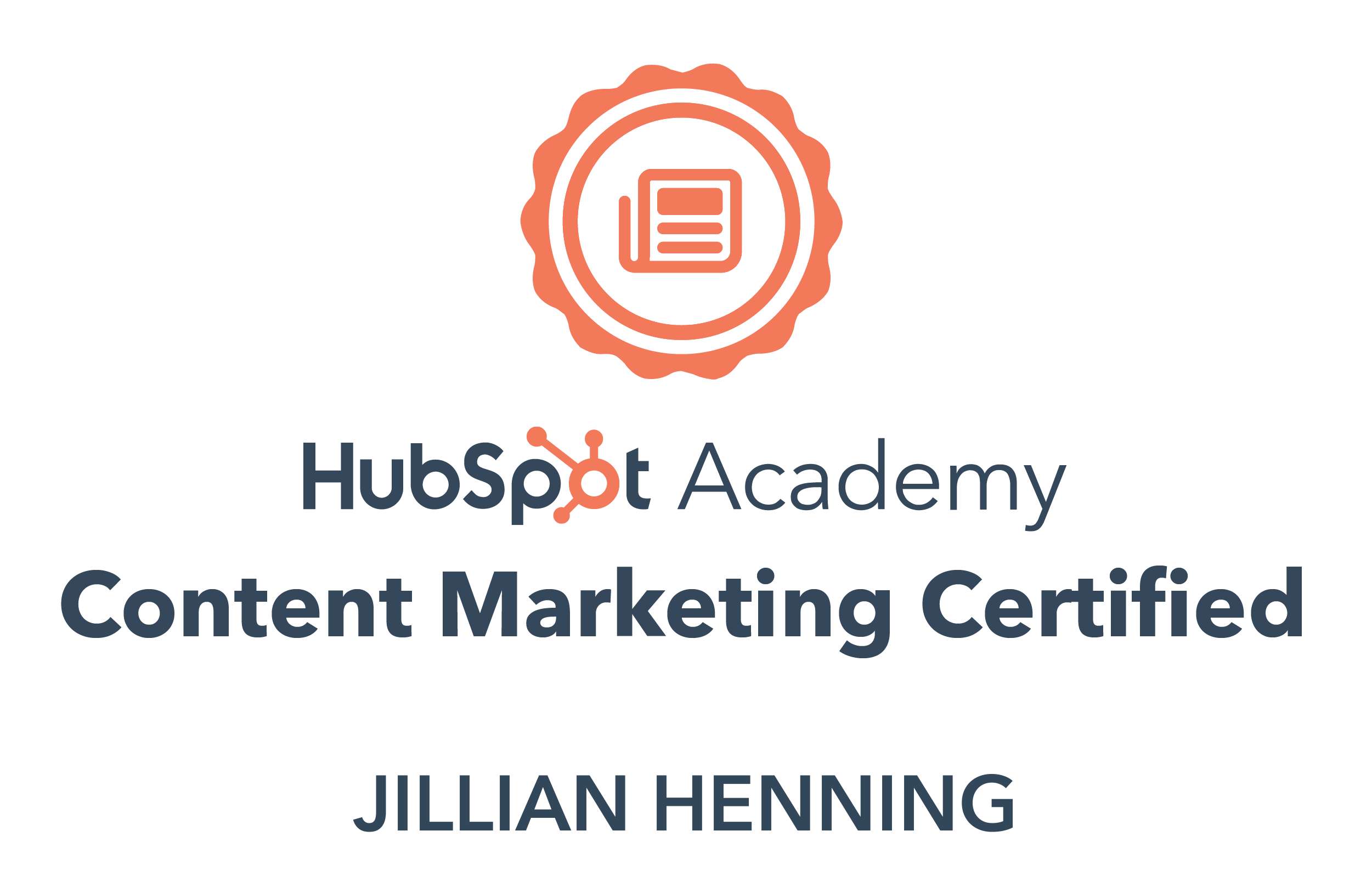 Content Marketing Certified Hubspot Academy