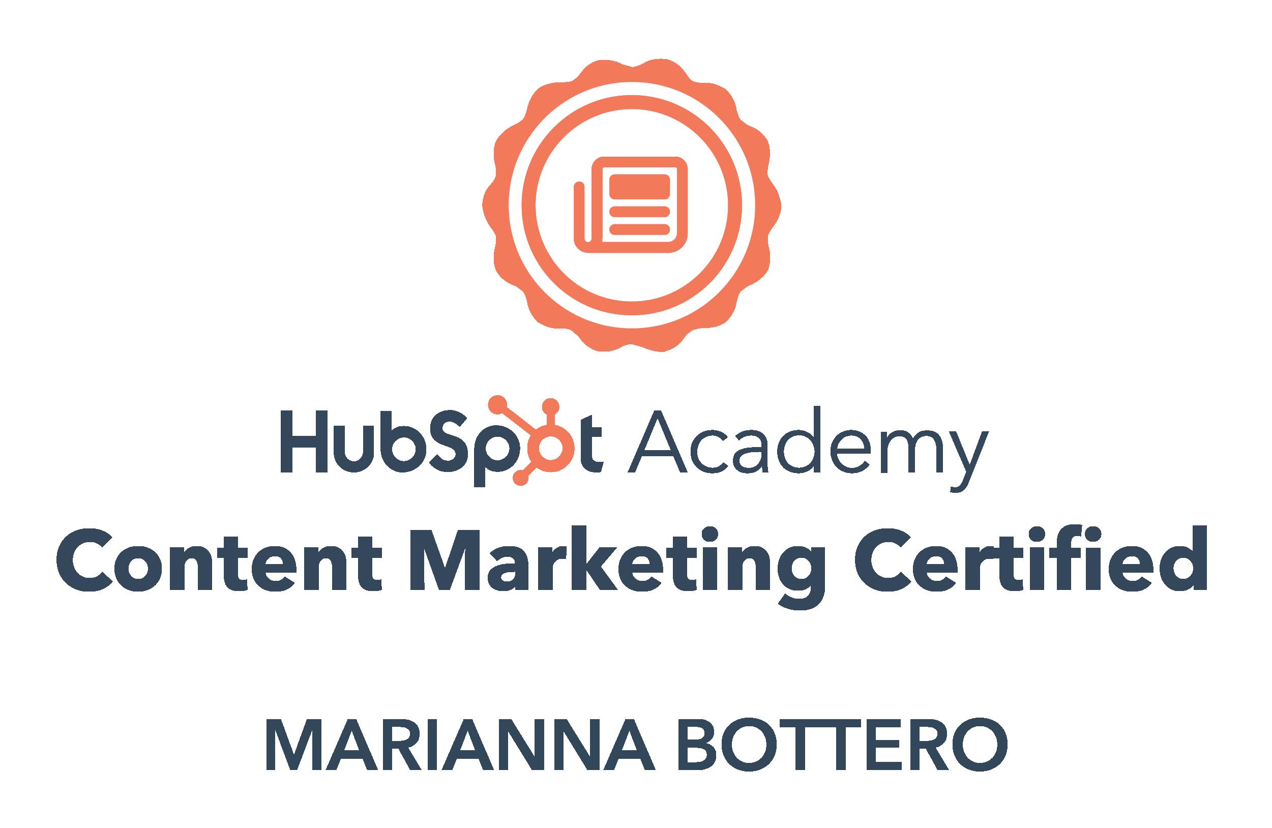 Content marketing Hubspot Certification
