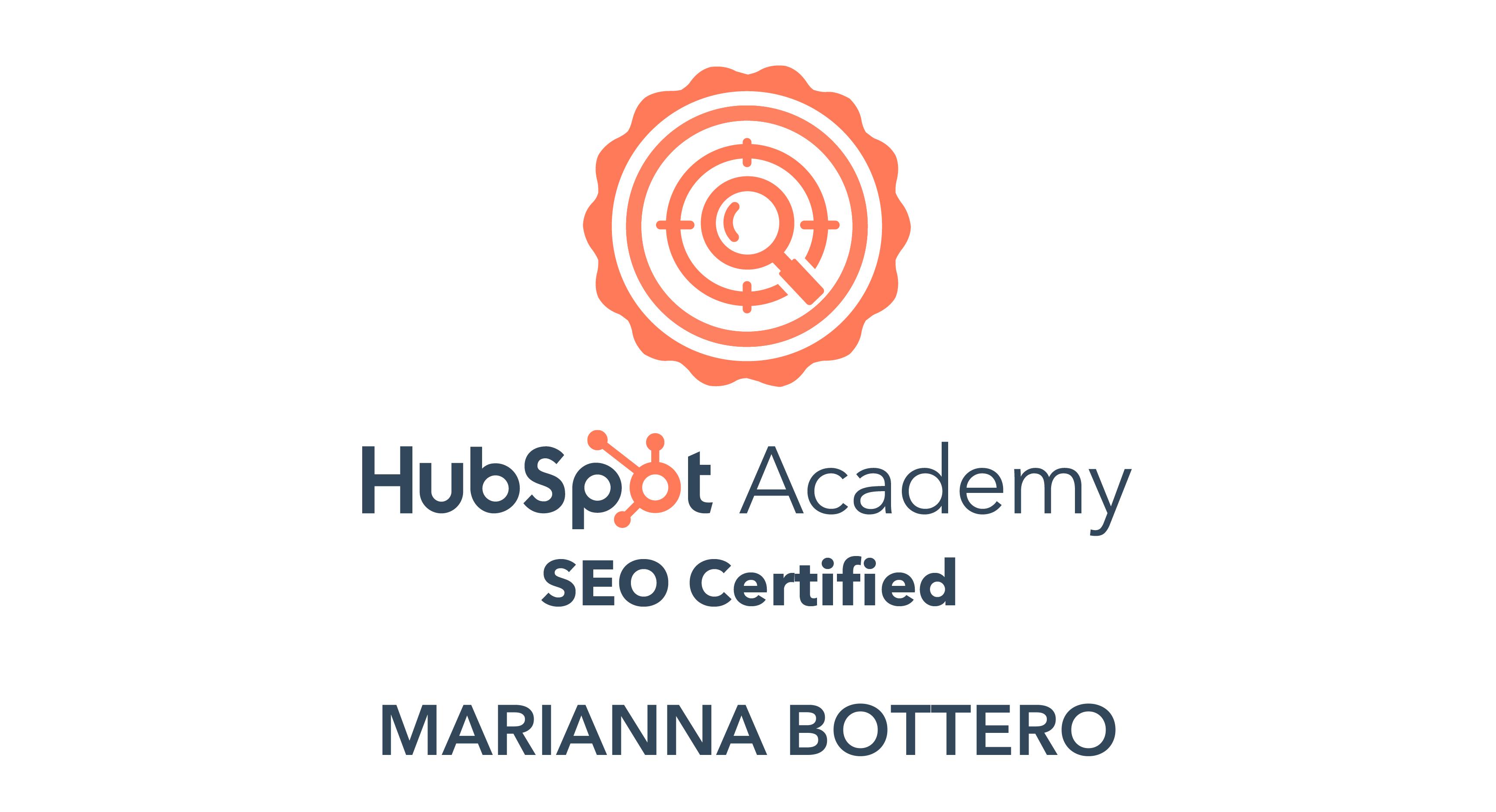 SEO Hubspot Certification