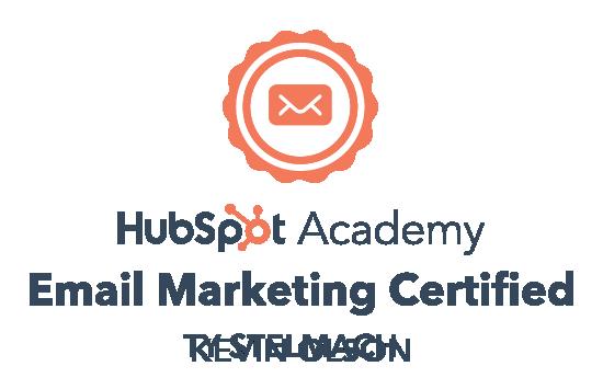 Hubspot Academy Email Marketing Badge