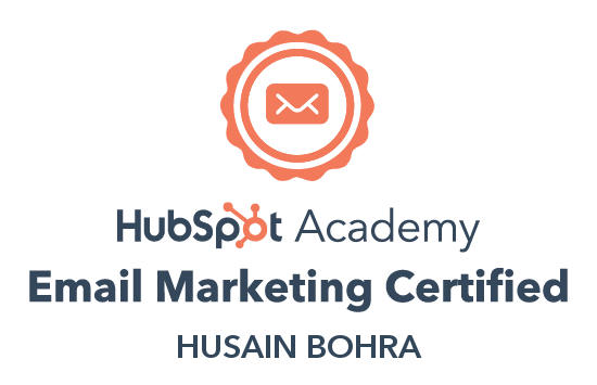 Husain Bohra Email Marketing Certified HubSpot Academy