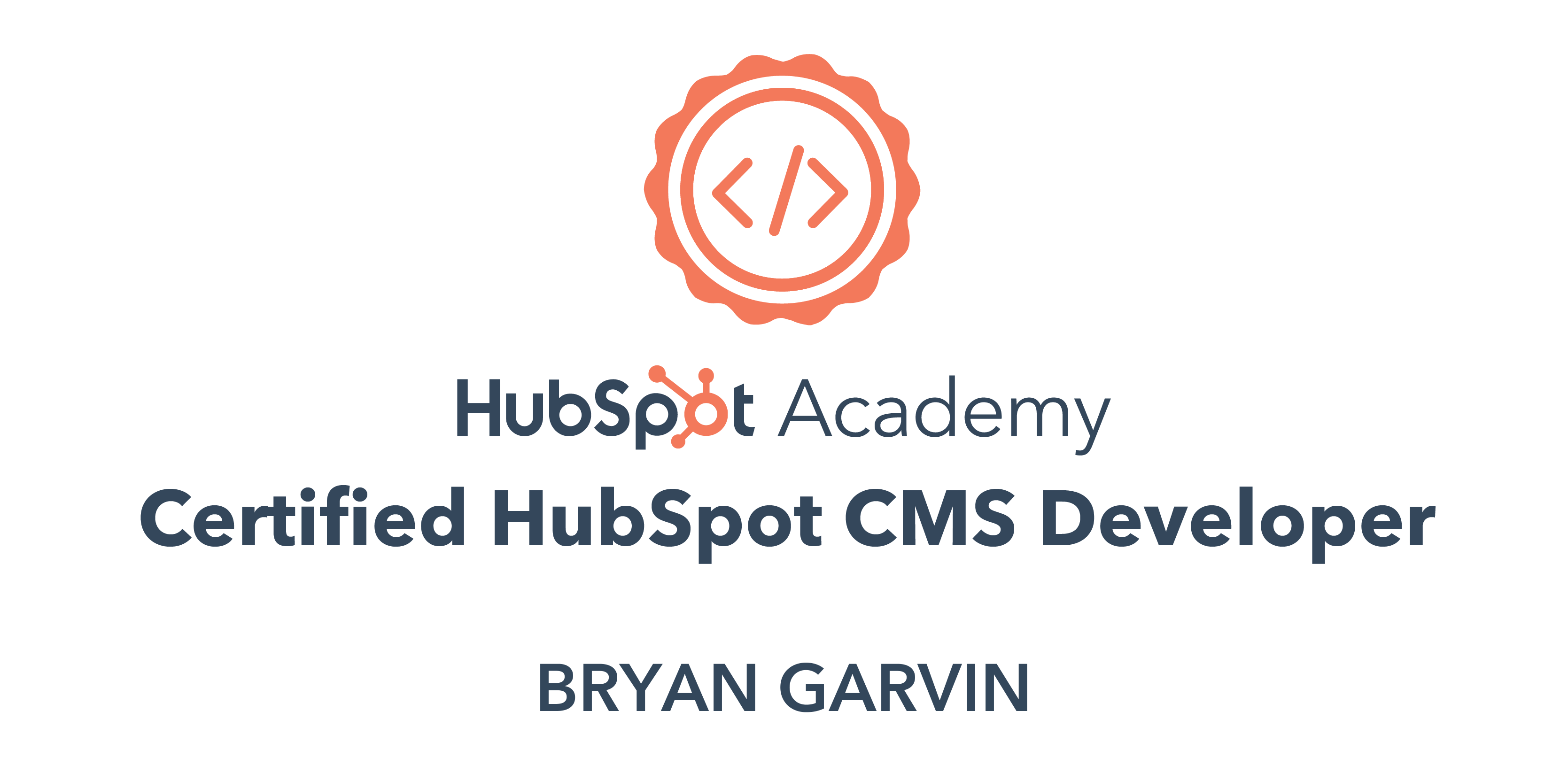 HubSpot Academy Certified HubSpot CMS Developer