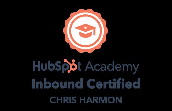 Hubspot Academy Inbound Certification of Chris Harmon