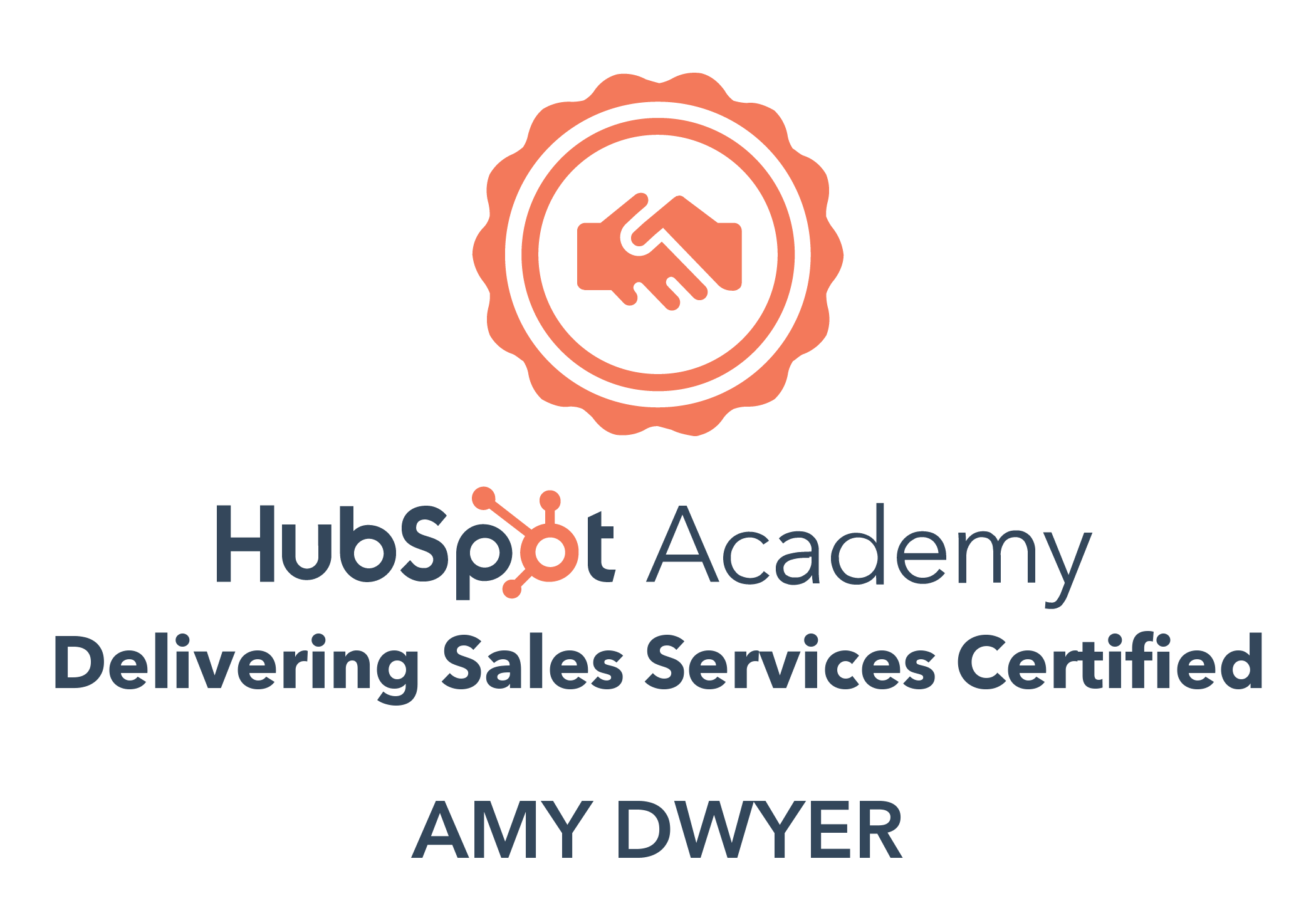 HubSpot delivering sales services certified Amy Dwyer