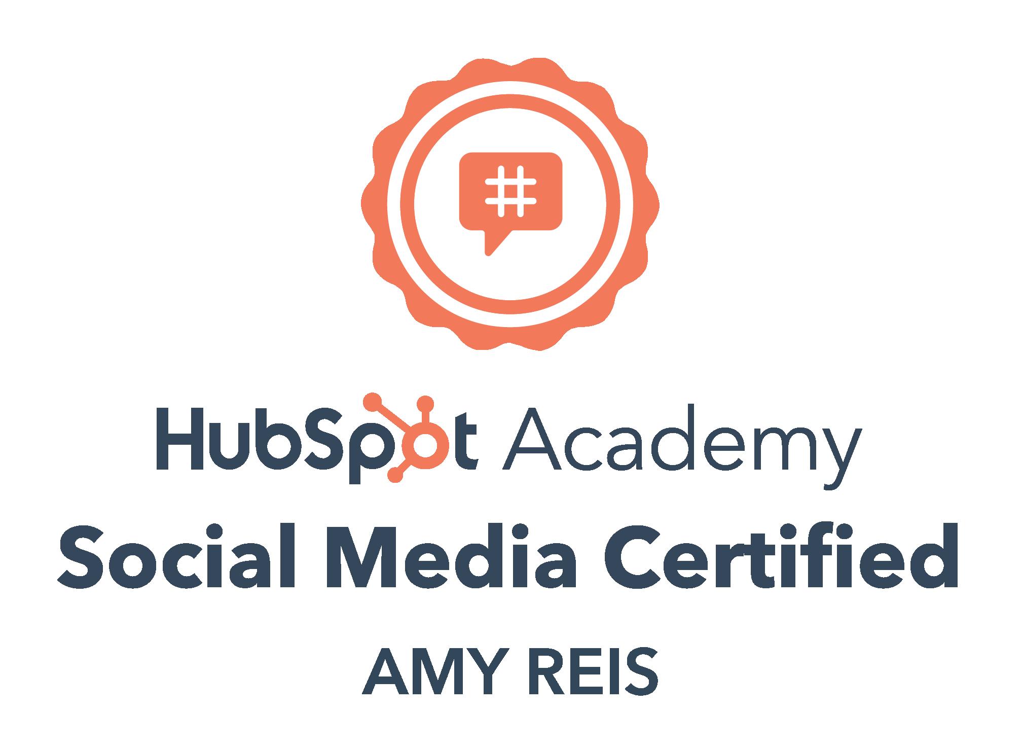 Hubspot Social Media Certified