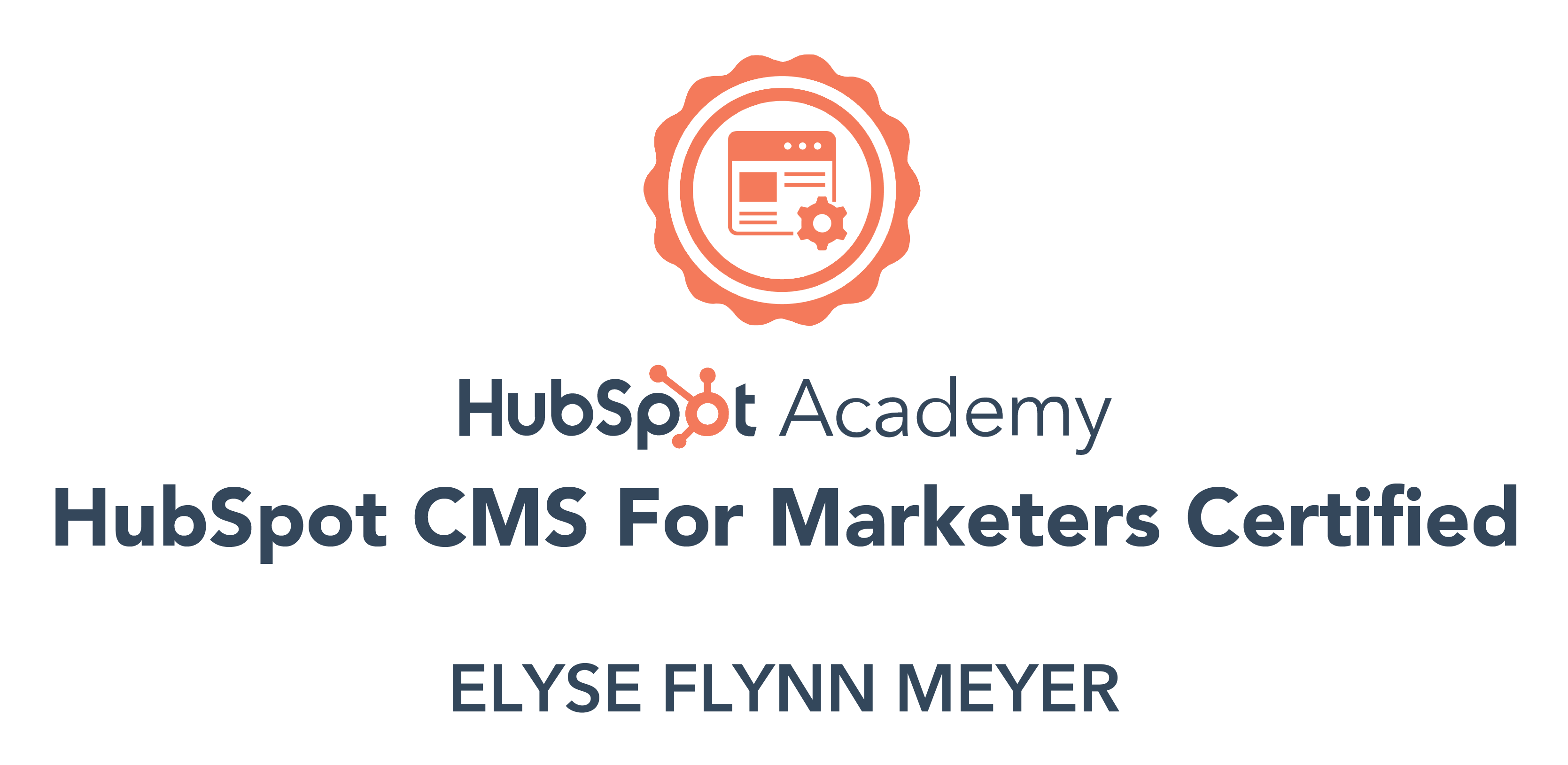 CMS for Marketers Certification