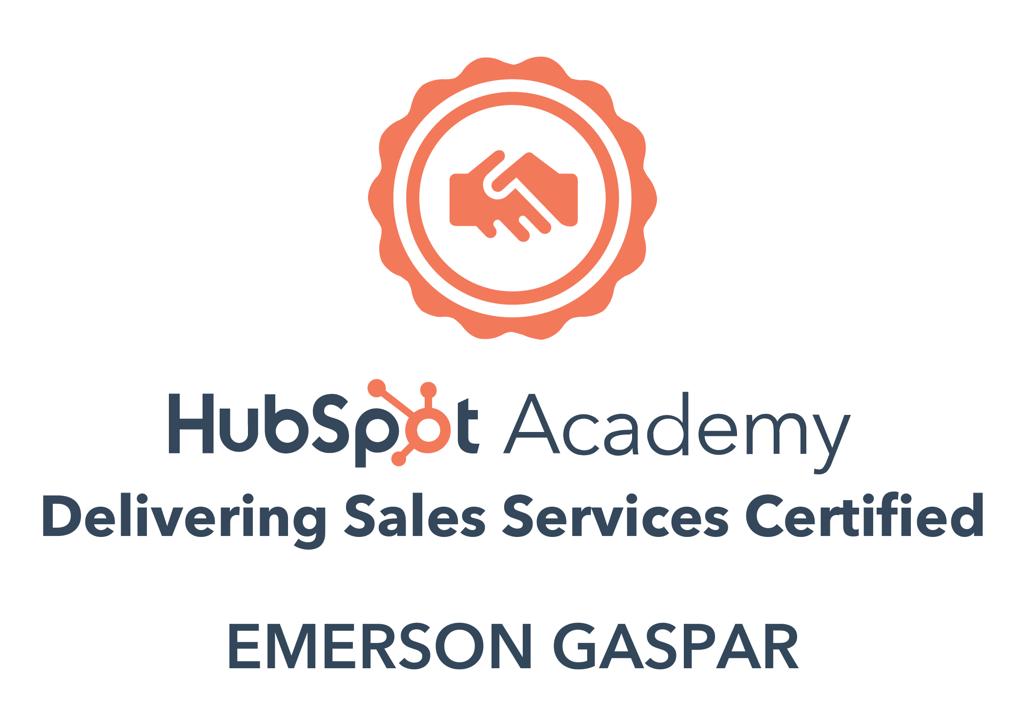 Hubspot Delivering Sales Services Badge
