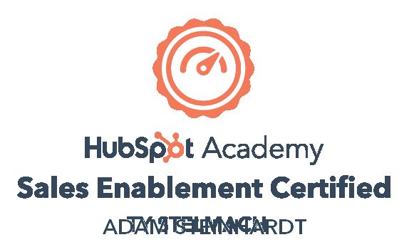 Adam Steinhardt HubSpot Sales Enablement Certified