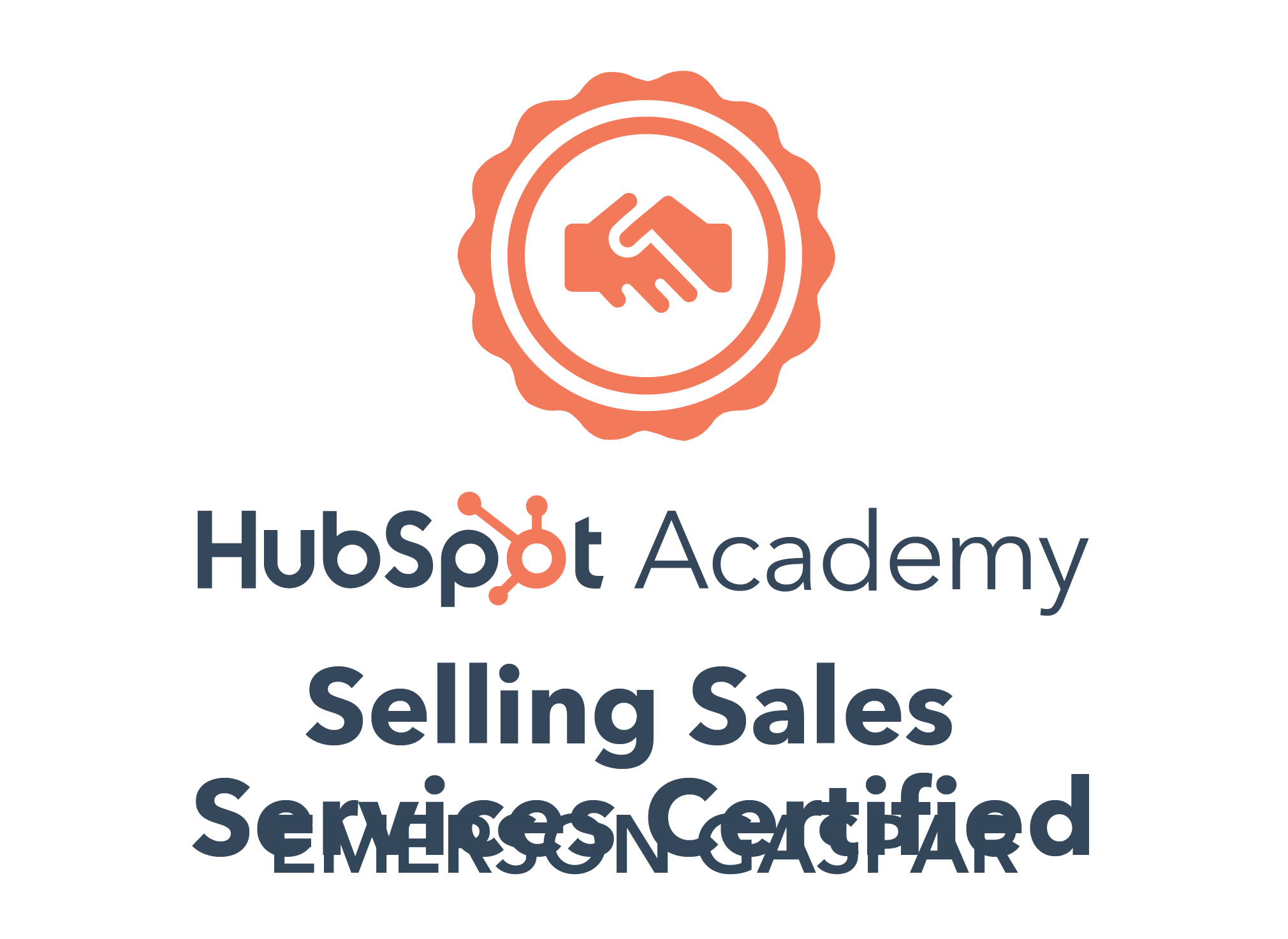Hubspot Selling Sales Services Badge