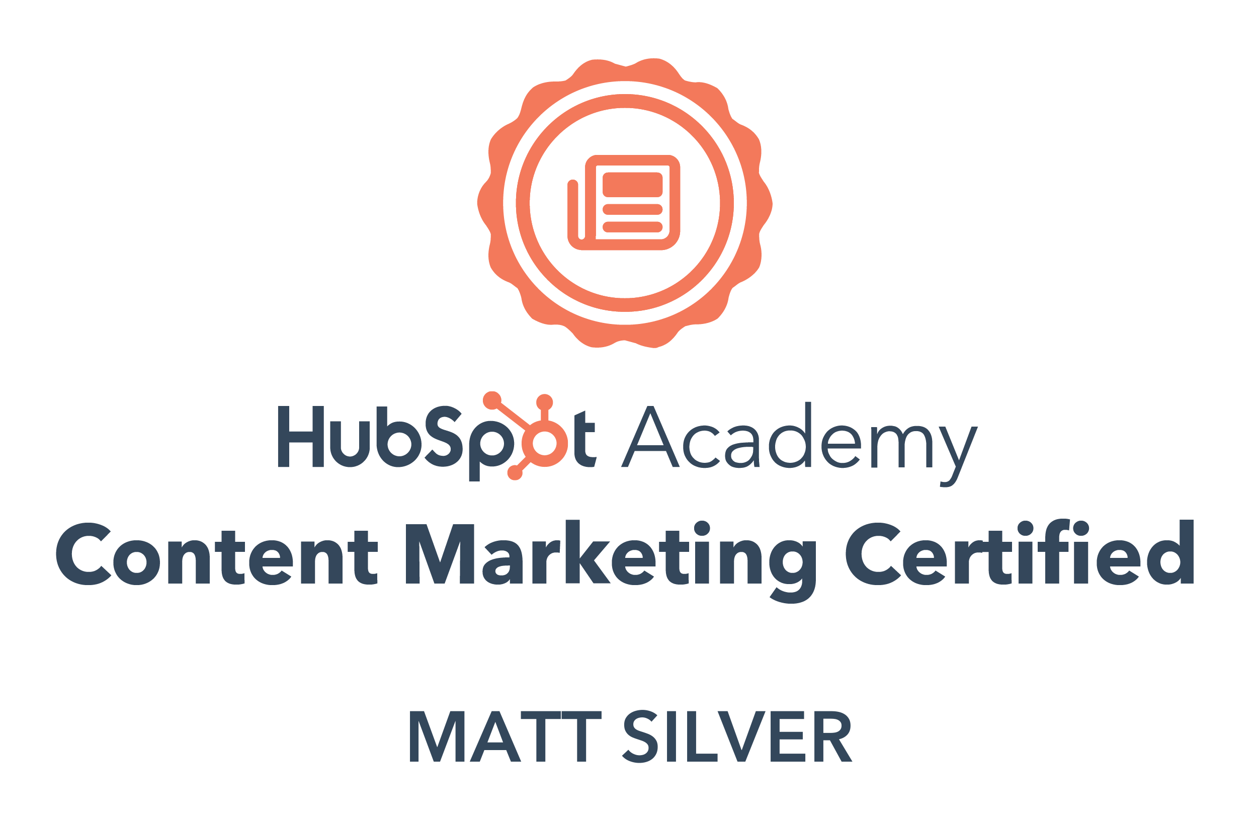 HubSpot Academy Content Marketing Badge