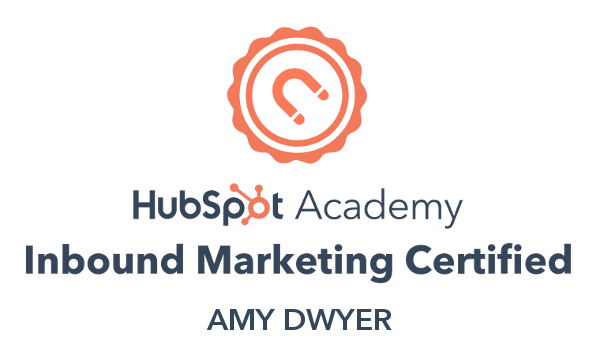 HubSpot inbound  marketing certified Amy Dwyer