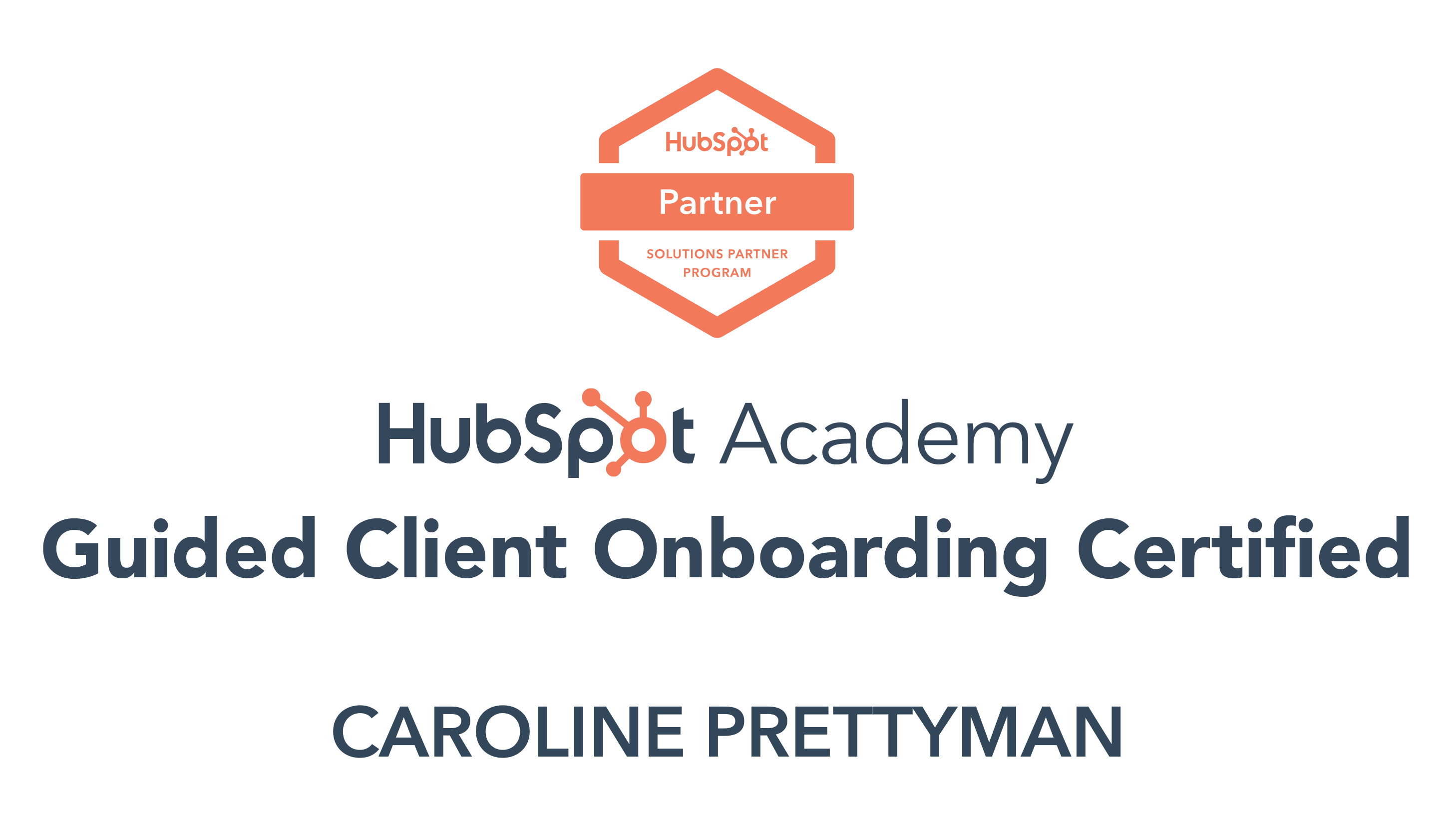 HubSpot Academy, Guided Client Onboarding Certified