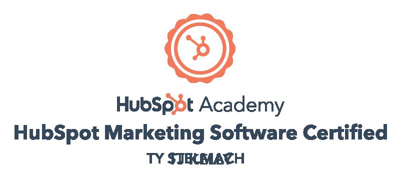 TJ Kelly, HubSpot Marketing Software Certified.