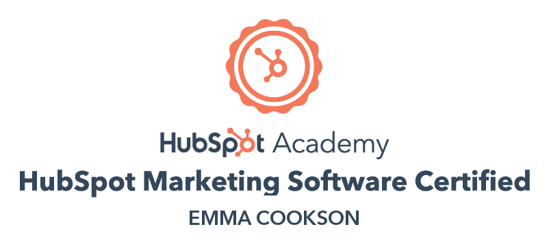 HubSpot Marketing Software Certification badge